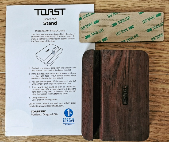 Toast Solid Walnut Universal Tablet Stand - Contents