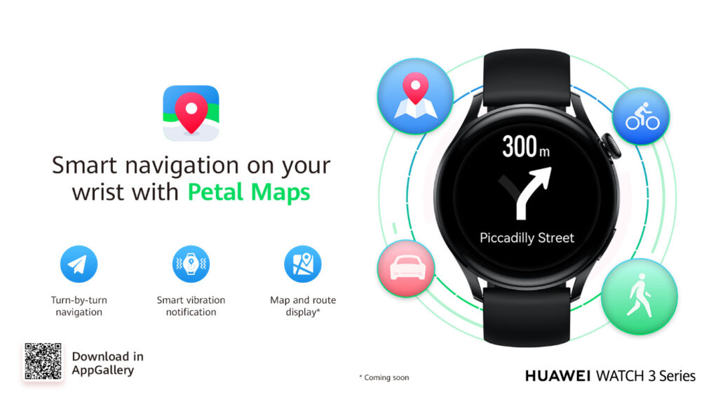featured HUAWEI'S PETAL MAPS NOW AVAILABLE ON THE WATCH 3 SERIES