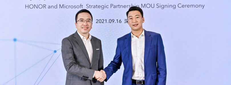 HONOR today announced that it will expand the strategic partnership with Microsoft at its new Shenzhen headquarters. Announcing at the signing ceremony main